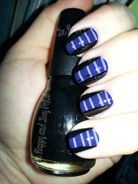Sinful Colors Lavander, Mesmerize, and Black on Black