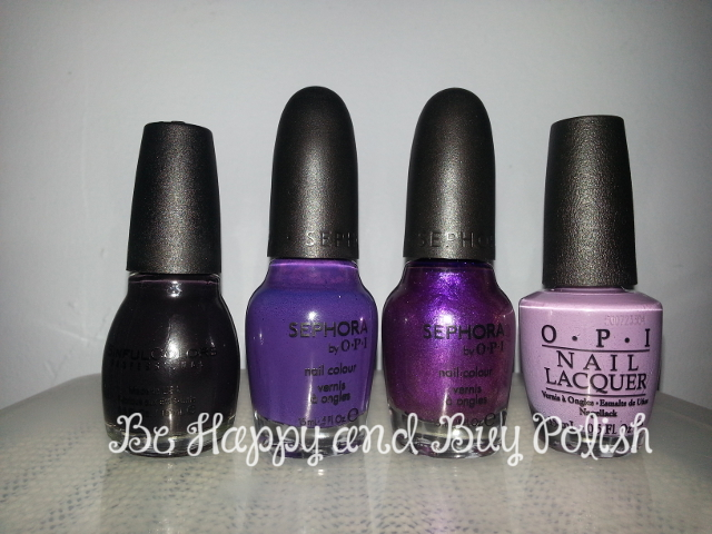 Sinful Colors Inkwell, SOPI Seriously It's a Naan-Issue, SOPI What Film Noir You In, OPI Planks a Lot