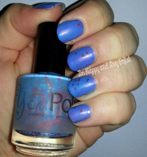 Carpe Noctem Cosmetics Man in White and You Polish Lucy's Sparkle