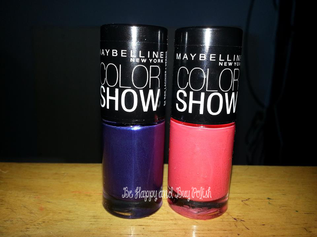 Maybelline Coral Glow and Maybelline Passionate Plum