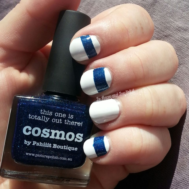 OPI Alpine Snow and piCture pOlish cosmos