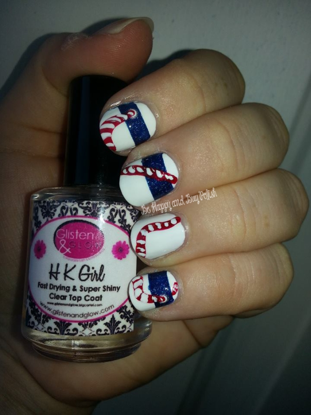 OPI Alpine Snow, OPI DS Sapphire, OPI Innie Minnie Mightie Bow, picture polish cosmos