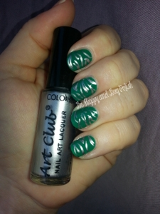 Color Club Wild Cactus and Steele This Look