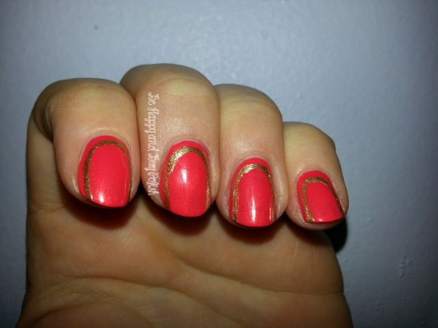 Maybelline Coral Glow and JulieG Ornamental