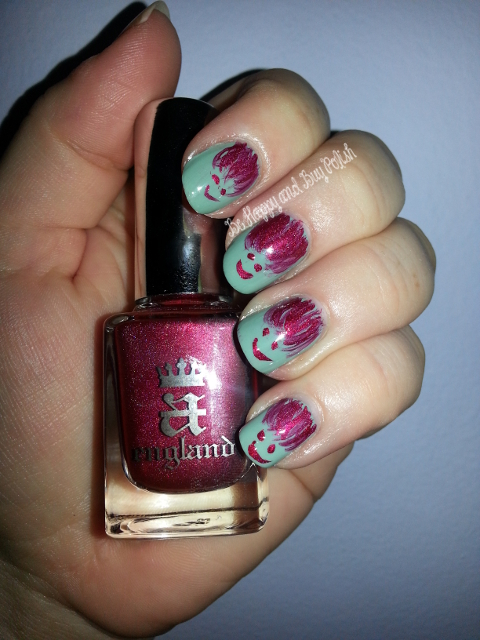 OPI Mermaids Tears and A England Rose Bower