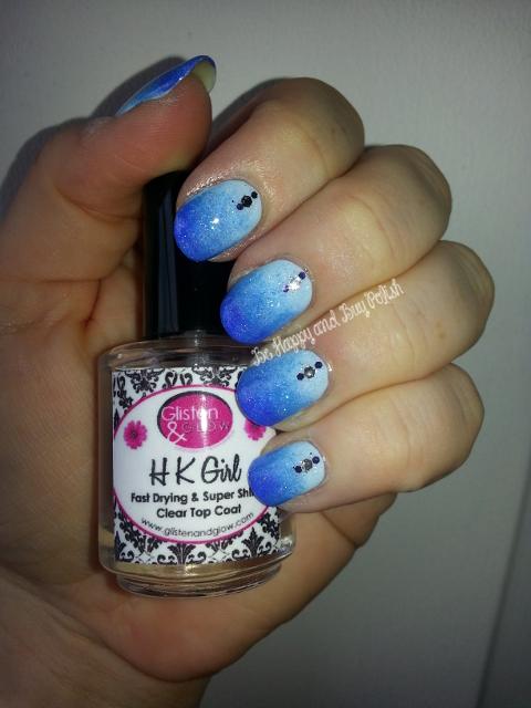 essie borrowed & blue, essie avenue maintain, essie butler please, OPI Polka.com, OPI Crown Me Already, Sinful Colors Smokin' Hot