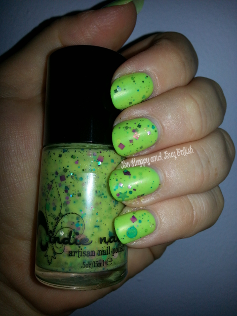 Sally Hansen Perfect Pear-ing and Jindie Nails Monsters Ink