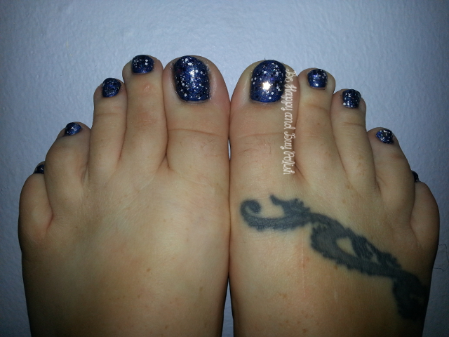 Mentality Sailor and Sinful Colors Smokin' Hot and I Love Nail Polish Once Upon a Starry Night