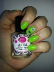 OPI Black Onyx, OPI My Boyfriend Scales Walls, Sally Hansen Green With Envy, Wet N Wild Stand the Test of Lime