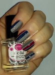 Spiffy Nail Polish Also I Can Kill You With My Brain, Sinful Colors Aubergine, Jungle Trail, New Wave