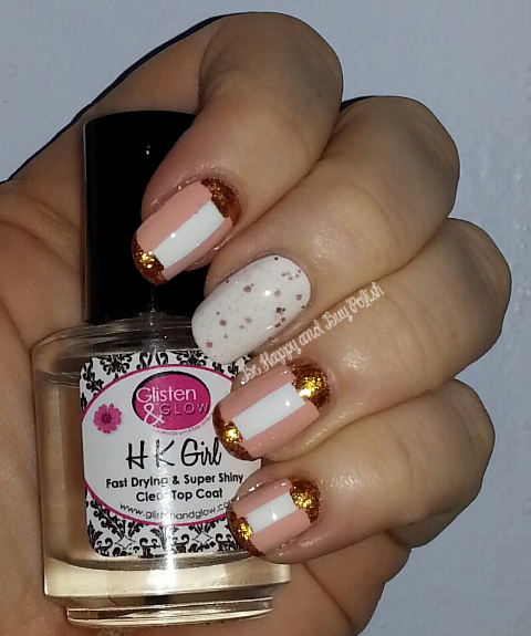 Orly Prelude to a Kiss, OPI Alpine Snow, OPI Goldeneye, Dollish Polish Penny Penny Penny