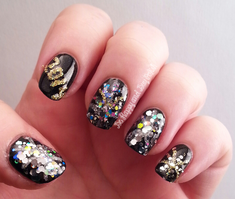 New Years Eve manicure