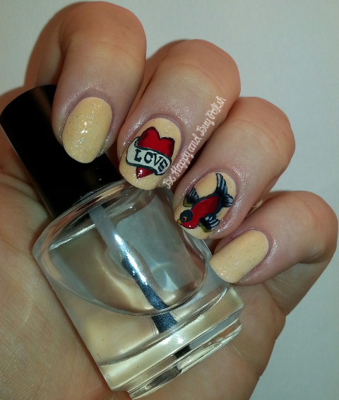 Sailor Jerry tattoo inspired nail art