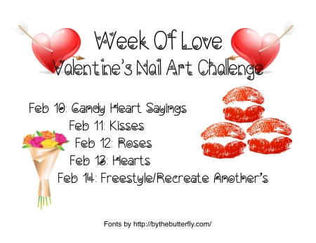 Week of Love Valentine's Day Nail Art Challenge