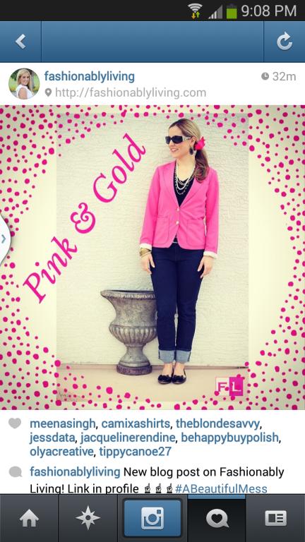 Fashionably Living instagram