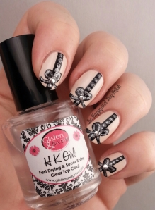 Fancy Bow & String Nail Art | Be Happy And Buy Polish