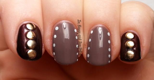 Studded Dots Nail Art   Be Happy And Buy Polish