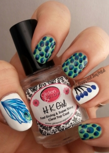 Peacock Print Nails | Be Happy And Buy Polish