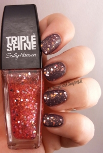 Sally Hansen Triple Shine Twinkled Pink, Sally Hansen Grey Area | Be Happy And Buy Polish