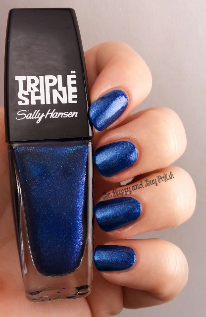 Sally Hansen Triple Shine Wavy Blue | Be Happy And Buy Polish