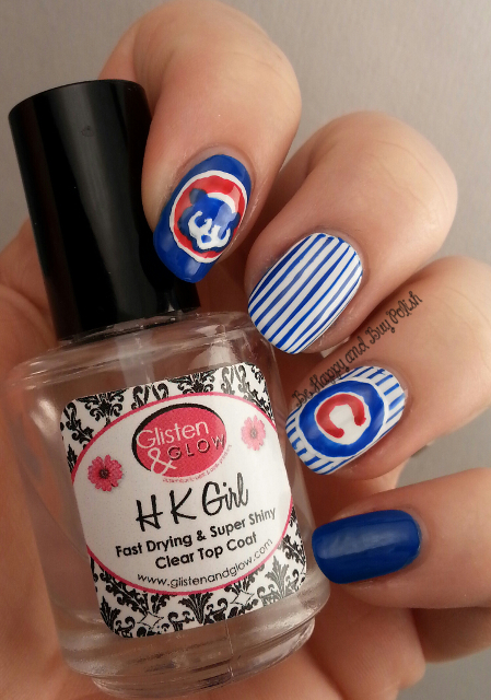 Chicago Cubs Nail Art Be Happy And Buy Polish
