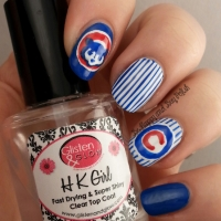 Chicago Cubs Nail Art