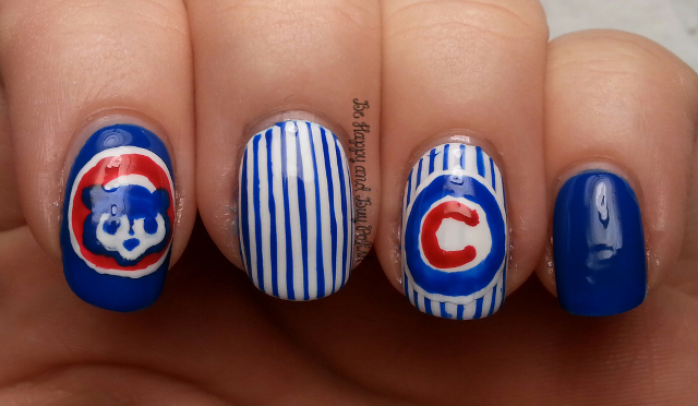 Chicago cubs nail art be happy and buy polish chicago cubs nail art be happy and buy polish prinsesfo Images