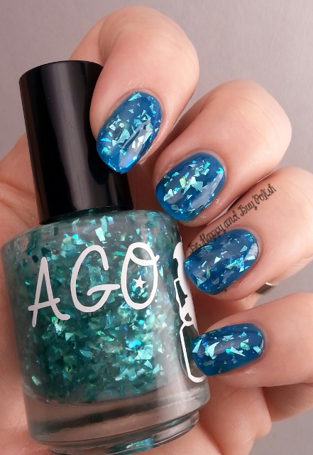 A Girl Obsessed Cold Shattered Heart over ellagee Cobalt Glass | Be Happy And Buy Polish