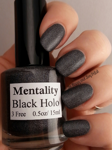 Mentality Black Holo (matte) | Be Happy And Buy Polish