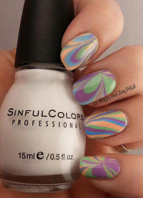 April Twin Post: Pastel Watermarble | Be Happy And Buy Polish