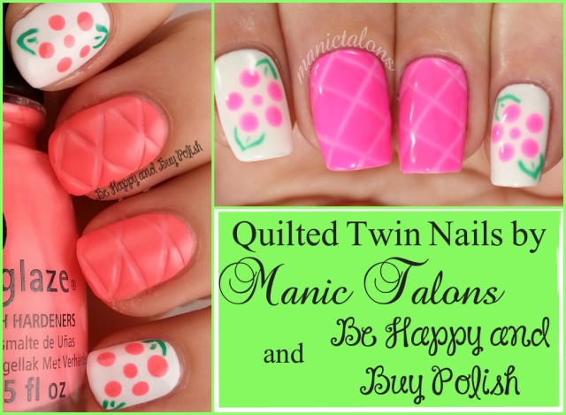 Quilted Nails Twin collage | Be Happy And Buy Polish