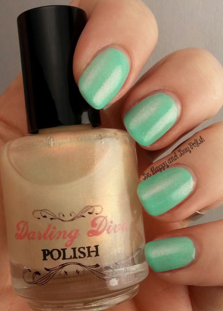 Darling Diva Polish Ringer Goes Blonde over Verity Soft Green | Be Happy And Buy Polish