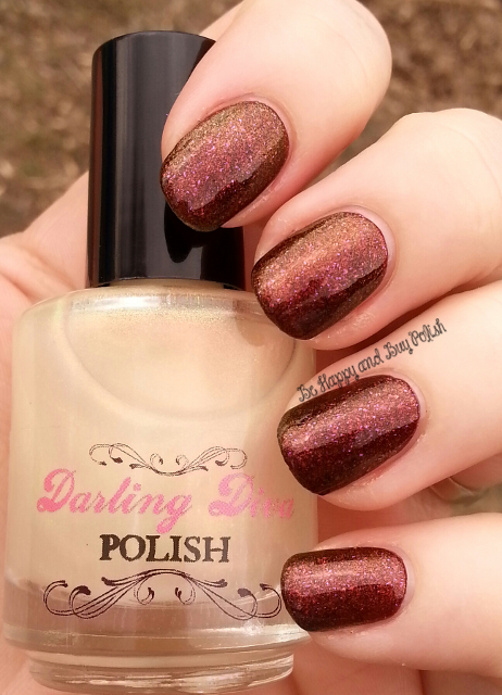 Darling Diva Polish Ringer Goes Blonde over Pahlish Cross My Hearts | Be Happy And Buy Polish