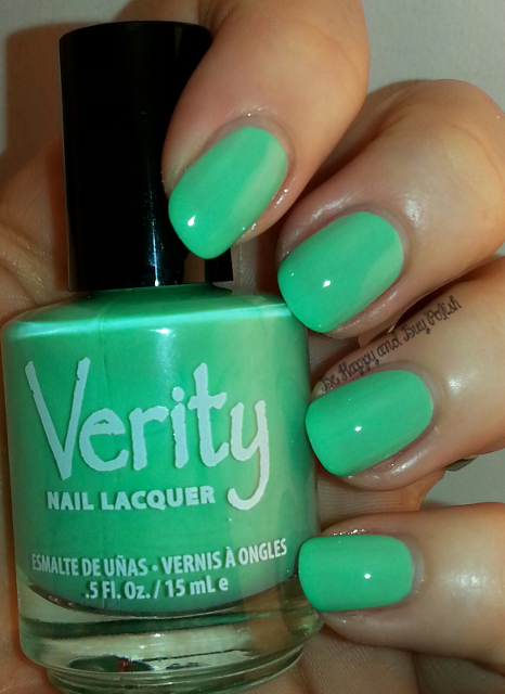 Verity Nail Lacquer Soft Green | Be Happy And Buy Polish