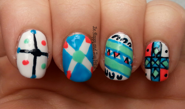Spring Renewal Nail Art Challenge Easter Egg Nails Be Happy And
