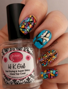 Spring Renewal Stained Glass nail art | Be Happy And Buy Polish