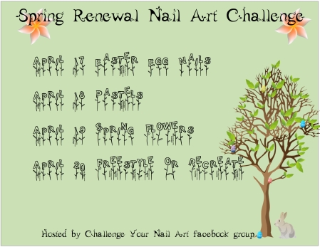 Spring Renewal Nail Art Challenge | Be Happy And Buy Polish
