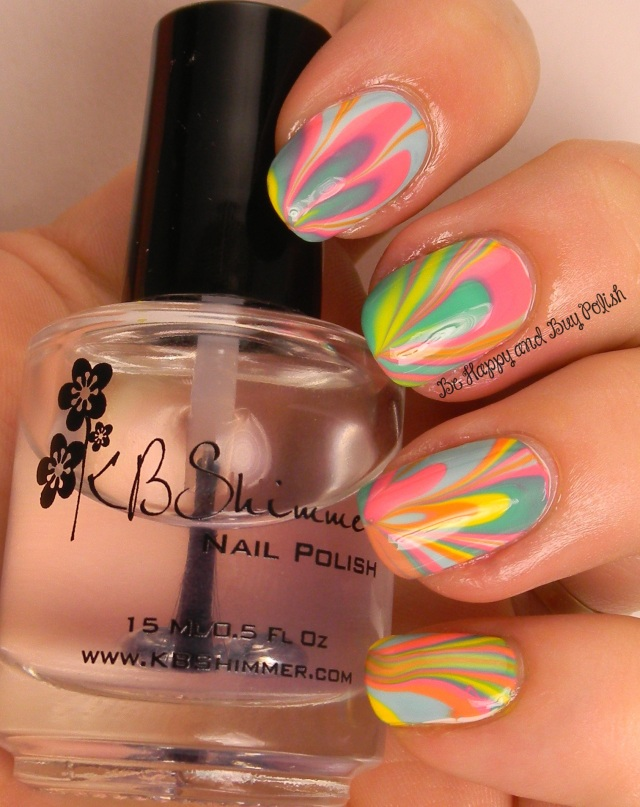 Circus Day watermarble | Be Happy and Buy Polish