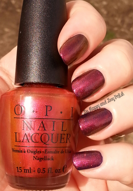 OPI Man of La Mancha over OPI Roadhouse Blues | Be Happy And Buy Polish