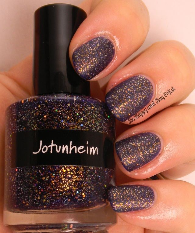 CrowsToes Jotunheim with AGO MatteIct top coat   Be Happy And Buy Polish