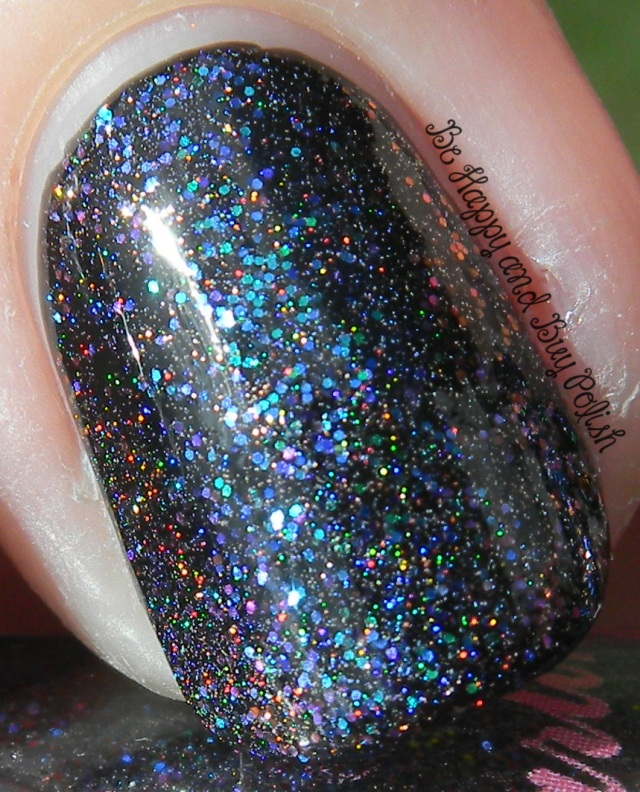 Darling Diva Temporary Insanity over Sinful Colors Black on Black | Be Happy And Buy Polish