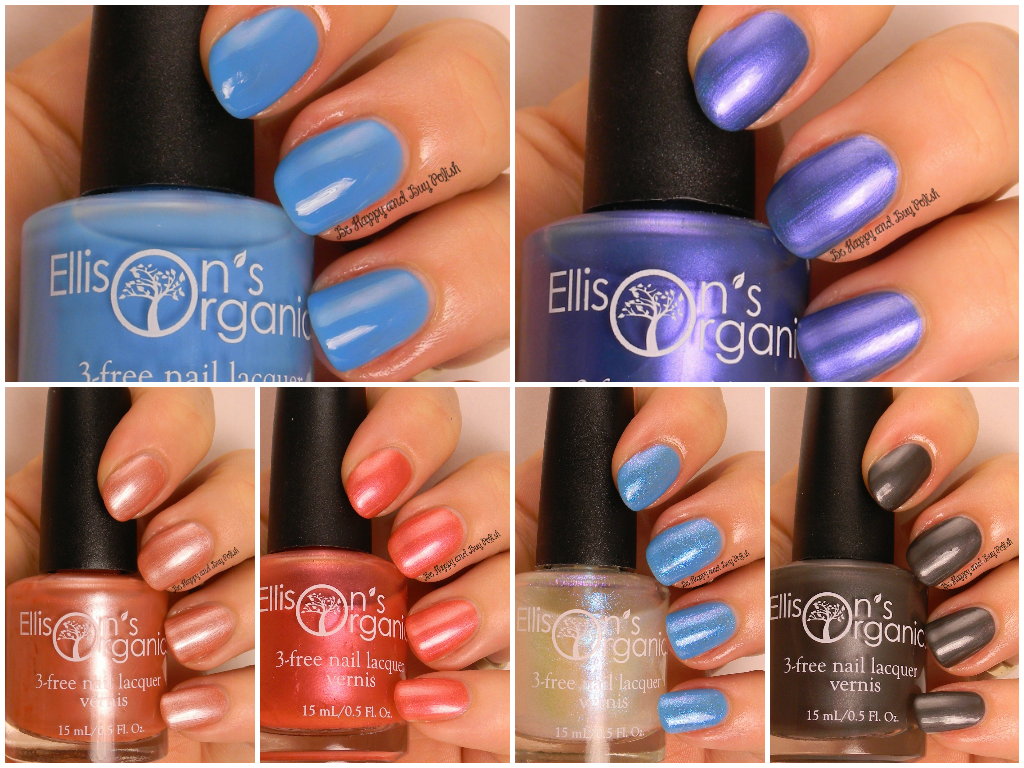 Ellison\'s Organics nail polish review + swatches | Be Happy and Buy ...