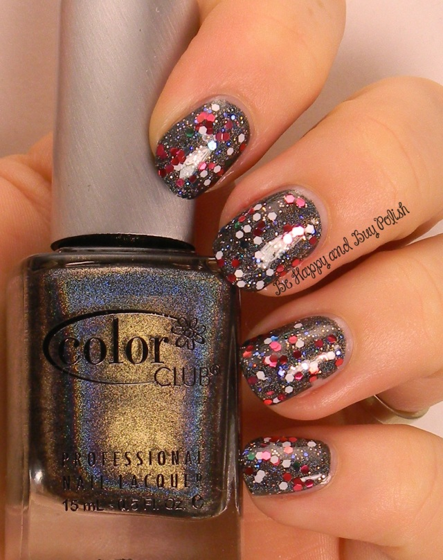 July 4 fireworks nail art   Color Club Beyond, Finger Paints Peacock Portrait, OPI Minnie Style   Be Happy And Buy Polish