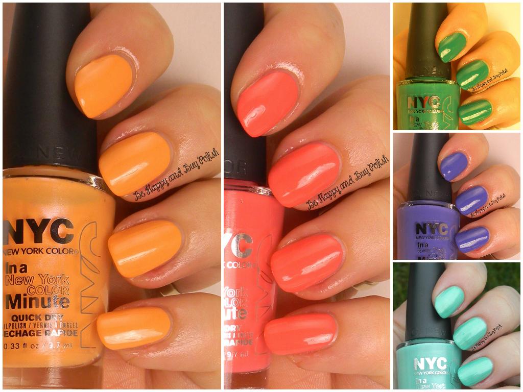 NYC New York Color City Samba Collection nail polishes (partial ...