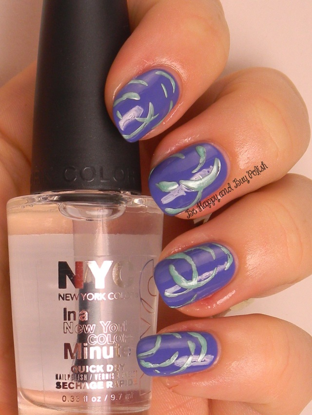 NYC New York Color  Jacaranda Flower and Amazon Green | Be Happy And Buy Polish