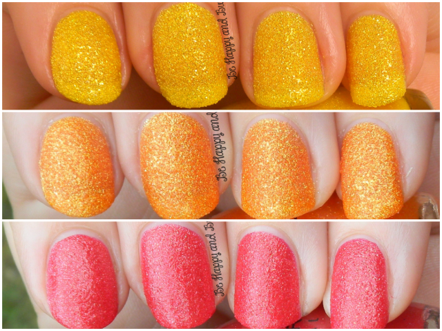 Sinful Colors Face the Facets, Orange Crush, Ruby Mine | Be Happy And Buy Polish