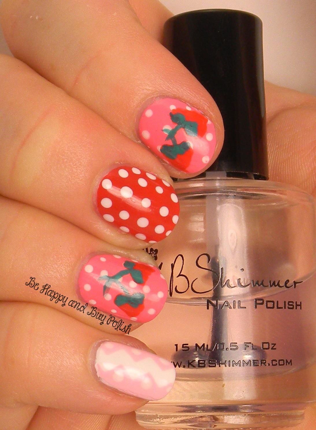 Summer Strawberry Nail Art Be Happy And Buy Polish