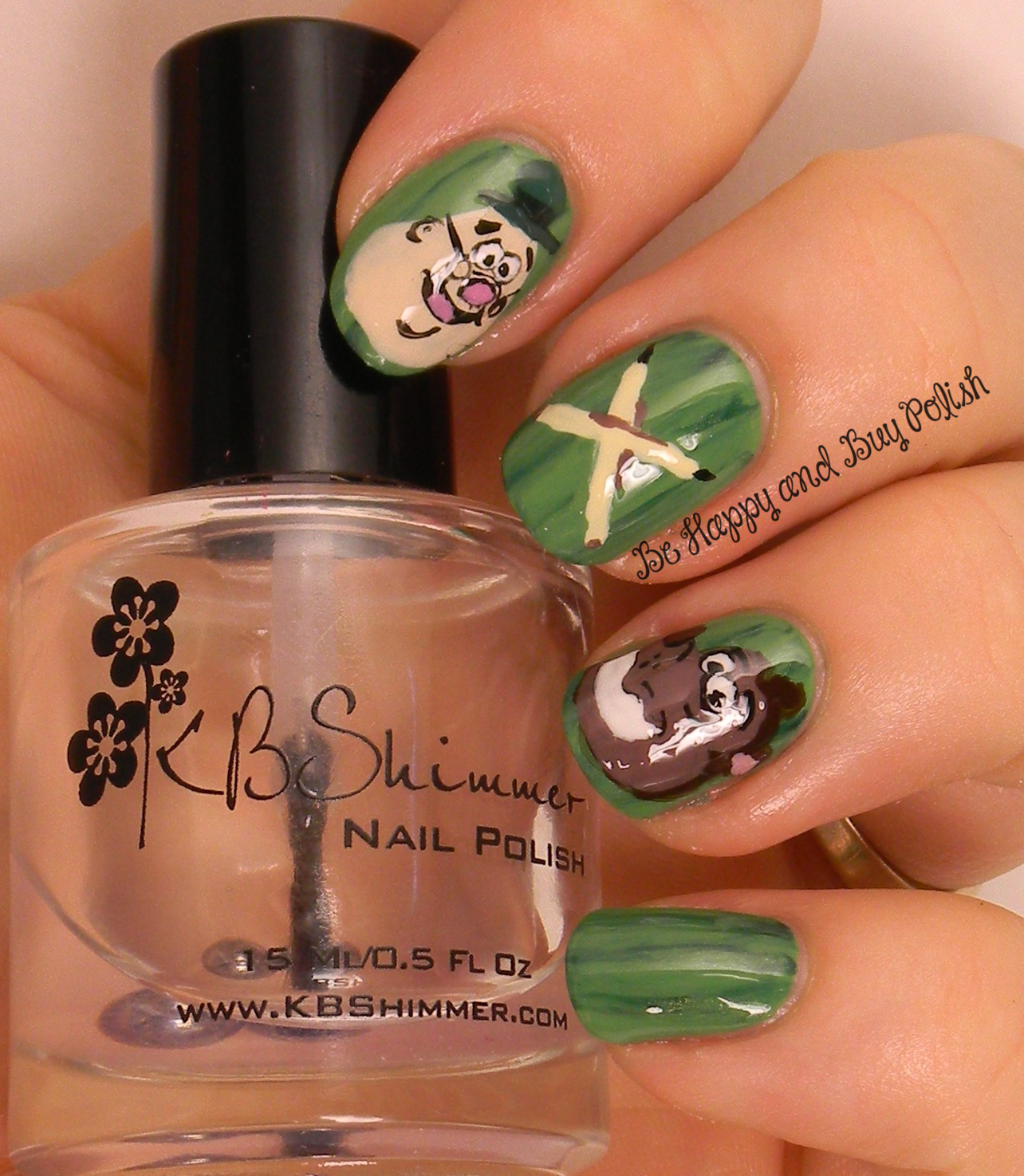 Embrace Your Geekness Nail Art Challenge Cartoon Characters Be