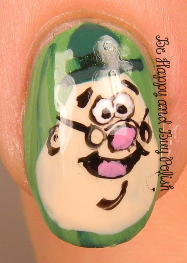 Disney's Humphrey Hop Nail Art | Be Happy And Buy Polish