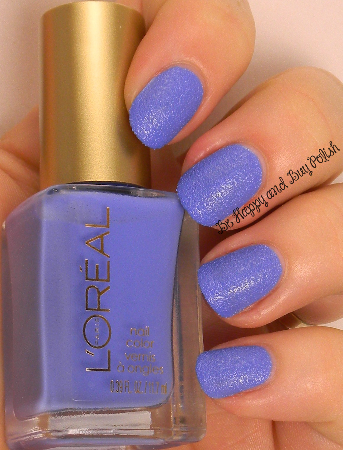 L\'Oreal Miss Denim nail polish swatches and review | Be Happy and ...